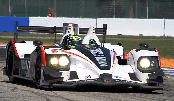 Klaus Graf brought the #6 Muscle Milk Pickett Racing HPD ARX-03a home well ahead of the competition, thanks to a quick second fuel stop under yellow. (James Fish/The Epoch Times)