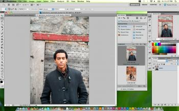 After applying a simple feature in Adobe Photoshop CS5, a subject is automatically cut from the background. (Joshua Phillip/The Epoch Times)