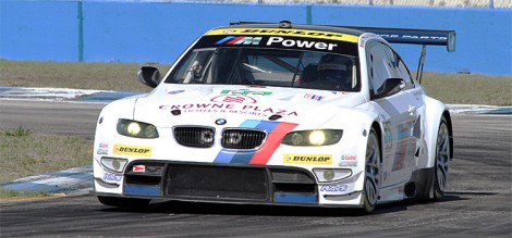 Joey Hand and Dirk Müller's #56 BMW M3 finished second despite losing time with a cut tire early in the race. (James Fish/The Epoch Times)