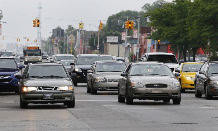 Grand River Boulevard in Detroit on July 9, 2015. (AP Photo/Paul Sancya)