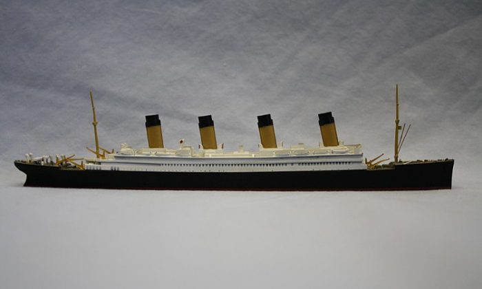 Model, ship; Titanic by Mercator. From the collection of A. Martin Stuchiner, South Street Seaport Museum (Courtesy of South Street Seaport Museum)