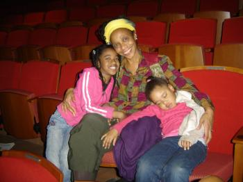 Ms. Trotter, executive director of a community-based, non-profit stress-control center, brought her two granddaughters to the show. (The Epoch Times)