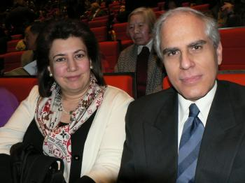 His Excellency Mr. Dimitrios Paraskevopoulos, Greece's Ambassador to France, attended the performance accompanied by his wife.  (Hanna L. Szmytko/The Epoch Times)