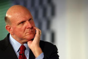 Chief Executive Officer of Microsoft Corporation Steve Ballmer looks on during a news conference Oct. 7, 2009 in Germany. Ballmer talked about the upcoming launch of the new Windows 7 computer operating system. The software giant announced that it was lay (Miguel Villagran/Getty Images)