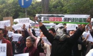 Chinese Residents Protest, and Tweet, Against Trash Burner