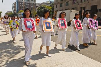 Commemorating some of the Falun Gong practitioners killed by the Chinese Communist Party. (Mark Zou/The Epoch Times)