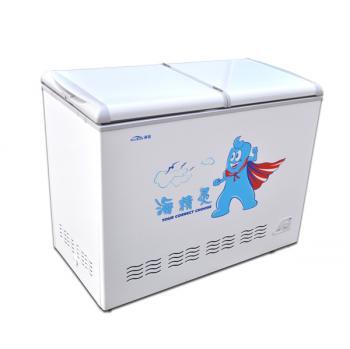 Haibao logo on a freezer made by Henan Haibao Electrical Appliances Co. (screenshot)