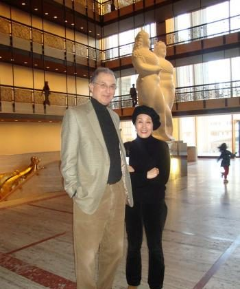 Joel and Myung Nagy enjoy the presentation of Shen Yun Performing Arts in New York. Mr. Nagy is an English professor from Connecticut. (Epoch Times Staff)