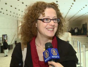 Sophie Raynard-Leroy felt lucky because she received the tickets to Shen Yun. (Courtesy of NTD Television)