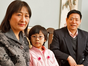 REUNITED: Zhang Lianying and her family arrived to New York in late January and spent two days making phone calls to friends, relatives, and acquaintances in China to tell them of their experiences and escape. (Jeff Nenarella/The Epoch Times)