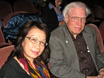 Mr. Erlo Roth attended Shen Yun Performing Arts with his friend Ms. Andy Chung. (Maureen Zebian/The Epoch Times)