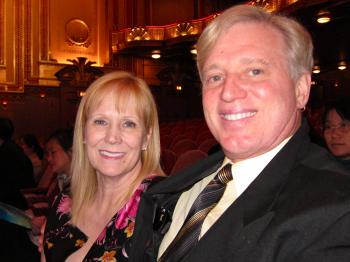 Cathy Crank and Keith Crank at Chicago's Civic Opera House, on April 24. (Valerie Avore/The Epoch Times)