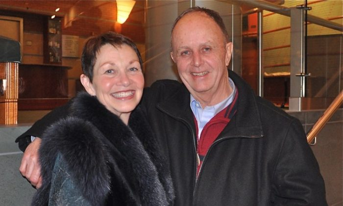 Mrs. Kathleen Mills and Mr. Jim Mills attend Shen Yun Performing Arts at the Aronoff Center, Cincinnati. (Charlie Lu/The Epoch Times)