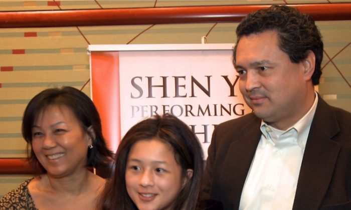 Mr. and Mrs. Alvarez brought their 12-year-old daughter to see Shen Yun Performing Arts at Cincinnati's Aronoff Center for the Arts, Feb. 4. (Courtesy of NTD Television)