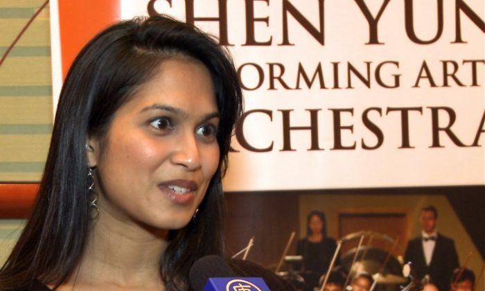 Surgeon Nidhi Gupta was captivated by Shen Yun Performing Arts. (Courtesy of NTD Television)