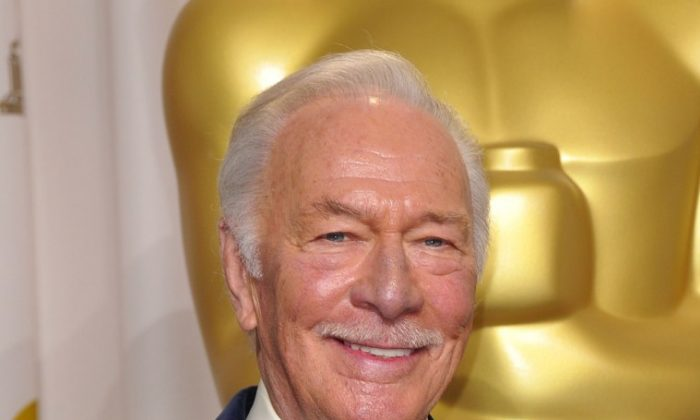 "Canadian icon Christopher Plummer holds his Oscar for Best Actor in a Supporting Role for ""Beginners"" at the Academy Awards on Feb. 26. (Joe Klamar/AFP/Getty Images)"