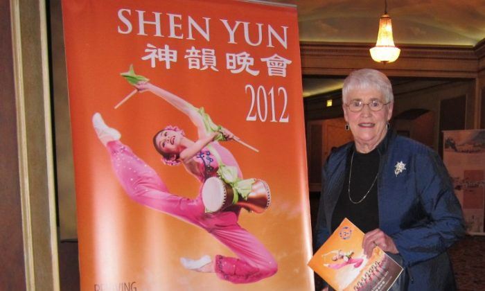 Joanne Negstad attends Shen Yun Performing Arts in Minneapolis. (Valerie Avore/The Epoch Times)