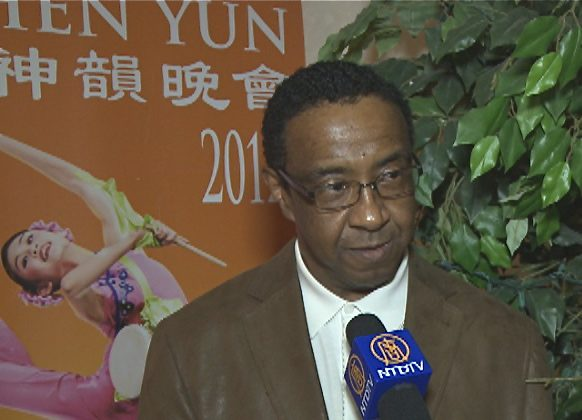 Mr. Clarence Coleman attends Shen Yun Performing Arts in Toledo. (Courtesy of NTD Television)