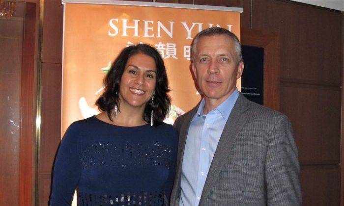 Judy and Michael Vincent attend Shen Yun Performing Arts in Washington.(Lisa Fan/The Epoch Times)