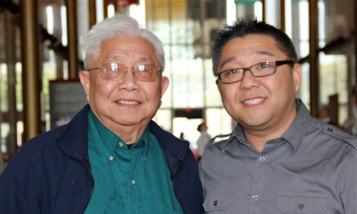 Mr. Quan and John saw New York-based Shen Yun at the matinee session at the Kennedy Center on Sunday, March 25. (Lillian Chang/The Epoch Times)