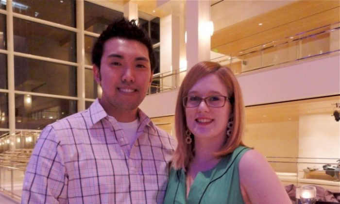 John Lam and Stacy Fuelle attend Shen Yun Performing Arts in Madison. (Catherine Wen/The Epoch Times)