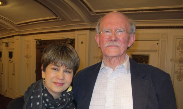 Retired business owner Tony Alers-Hankey and his wife Parvin praised the Saturday matinee of Shen Yun at the London Coliseum on April 14, 2012. (The Epoch Times)