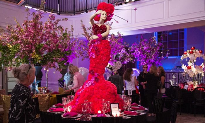 An Ovando floral design featured in the New York Flower Show at the Horticultural Society of New York on Tuesday. (Benjamin Chasteen/The Epoch Times)
