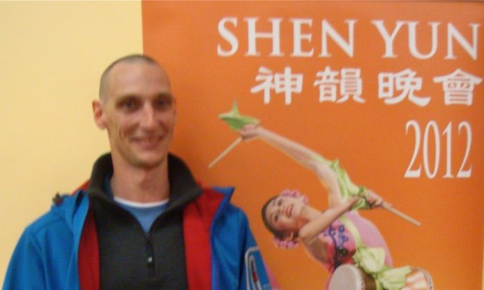 """John Rawls at Shen Yun Performing Arts in Wellington. He said: """"I was absolutely blown away. I laughed and I cried."""" (Courtesy of SOH radio network)"""