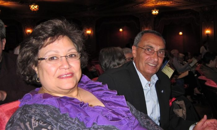 Magda Minshawi and her husband, Dr. Mohamed Minshawi, attend Shen Yun Performing Arts at the Ohio Theatre. (Valerie Avore/The Epoch Times)