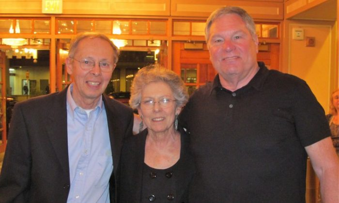 Bob Dichico, Kathy and John Woods (R) attend Shen Yun Performing Arts in Philadelphia. (Hannah Cai/The Epoch Times)