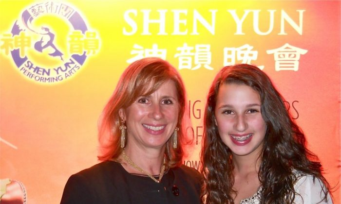 "Barbara Nuchereno and her daughter, Rachel, attend Shen Yun Performing Arts in Buffalo. Ms. Nuchereno said, ""I was excited to be able to come this year."" (Matthew Little/The Epoch Times)"