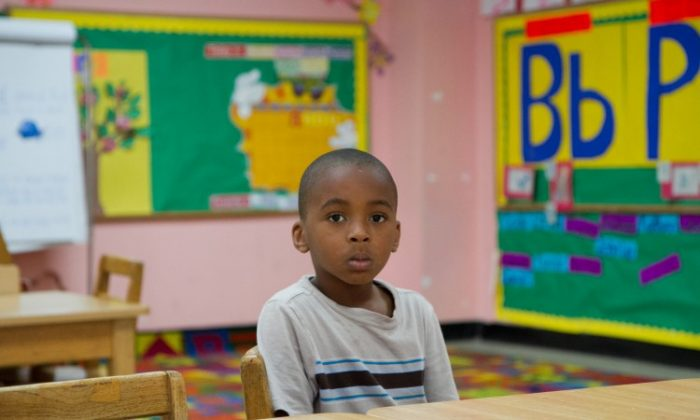 An empty classroom at the Bethel Day Care Center in Brooklyn on May 22. Funding to the center runs out on June 30 and may not be renewed under changes to the Early Learn program in the city's new budget.   (Benjamin Chasteen/The Epoch Times)