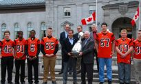 Grey Cup Receives Warm Welcome at Rideau Hall