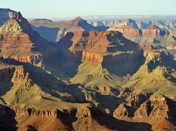 A view into the Grand Canyon from the South Rim in Arizona. Recently a 21-year-old man accidentally drove off the south rim of the Grand Canyon and emerged with non-life-threatening injuries.   (Robyn Beck/Getty Images )