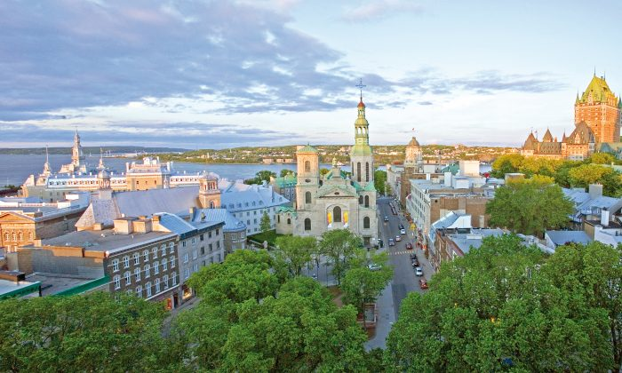Panorama of the Quebec City skyline and the St. Lawrence River. (Luc-Antoine Couturier)
