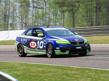 For Kinetics Kia and drivers Galati and Jonsson, Barber was the first win. (James Fish/The Epoch Times)