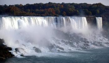 Niagara Falls as seen from the Canadian side, Oct. 10, 2003. (Don Emmert/AFP/Getty Images )