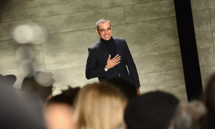 Designer Bibhu Mohapatra attends the Bibhu Mohapatra fashion show during Mercedes-Benz Fashion Week Fall 2015 at The Pavilion at Lincoln Center on February 18, 2015 in New York City.  (Noam Galai/Getty Images for Mercedes-Benz Fashion Week)