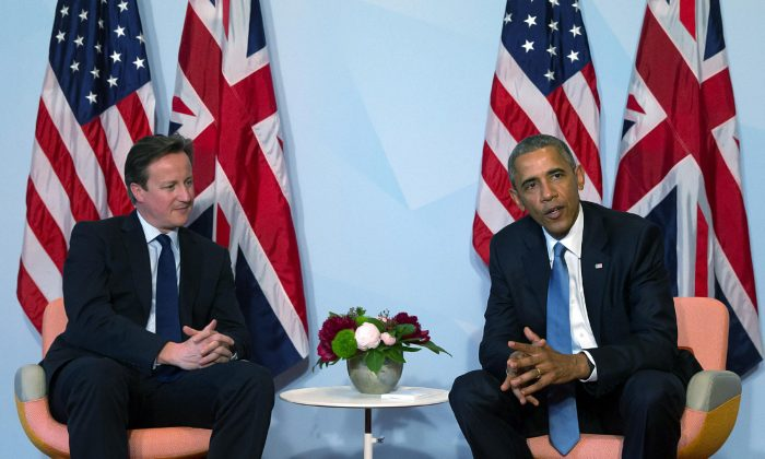 President Barack Obama and Britain's Prime Minister David Cameron in Germany on June 7, 2015. (Carl Court/Getty Images)