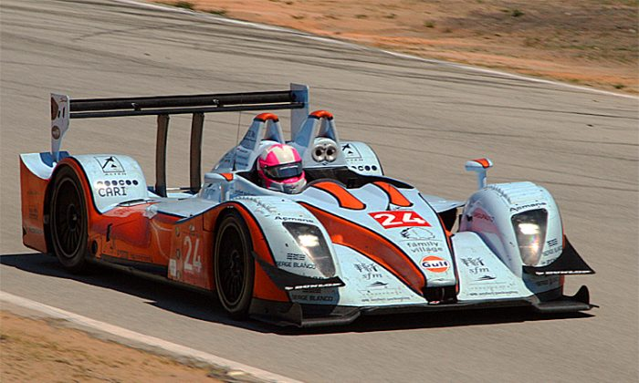 Henri Pescarolo will campaign a Pescarolo 01 like this Gulf Racing entry, at Sebring in 2012. (James Fish/The Epoch Times)