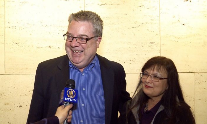 Todd and Darla Coolman enjoy recapping their experience of Shen Yun Performing Arts on Wednesday at Lincoln Center. (Courtesy of NTD Television)