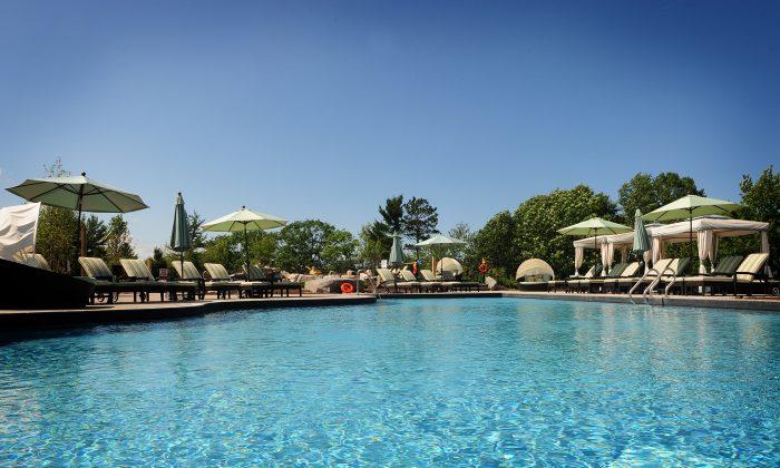 The pool at the Muskoka Bay Club. (Courtesy of Freed Developments)
