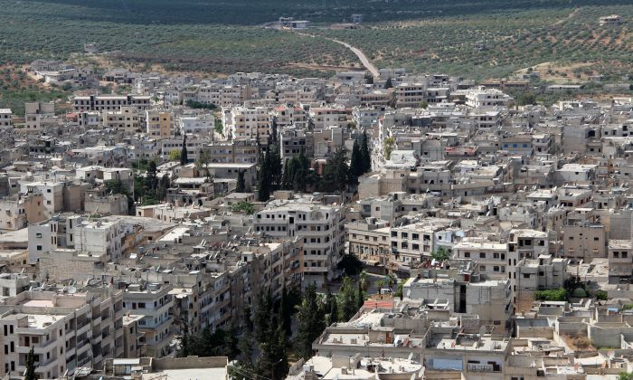 The town of Ariha, in northwestern Idlib Province, a day after the city was seized by a rebel coalition led by al-Qaida's Syria franchise, on May 29, 2015. (Ghaith Omran/AFP/Getty Images)