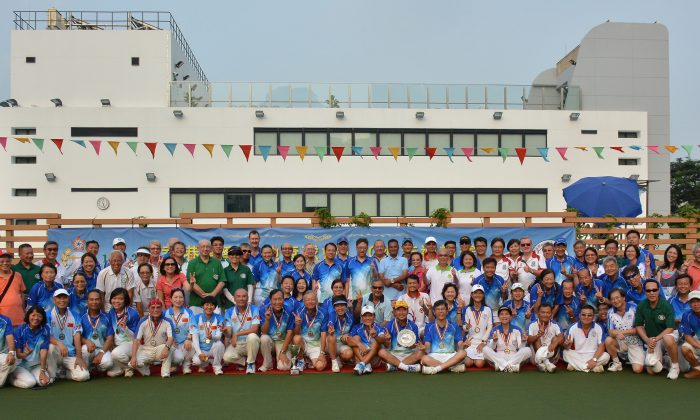 More than 100 bowlers participated in the competition to celebrate the 110th anniversary of the Hong Kong Police Lawn Bowls Club and to mark the opening of its new green at the Police Sports and Recreation in Mongkok. (Stephanie Worth)