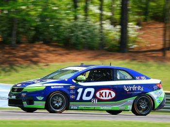 Nic Jonsson brought the #10 Kinetics Kia home first in class. (James Fish/The Epoch Times)