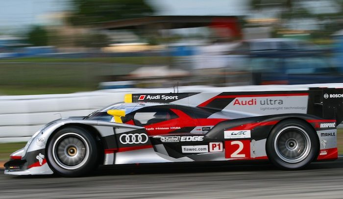 Audi swept the top of the timesheet in Tuesday's afternoon practice. Hopefully the gasoline-engined cars can find some more speed before Saturday's race. (James Fish/The Epoch Times)