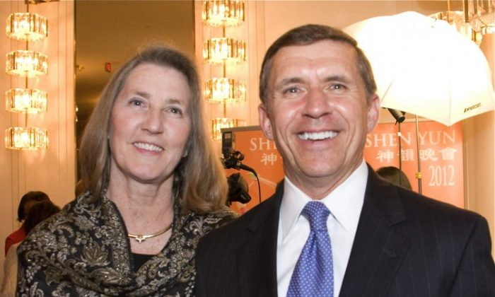Brigadier General Jorge D. Riojas and his wife Susan attended the 2012 premier of Shen Yun in Washington D.C., at The Kennedy Center March 21. (Lisa Fan/The Epoch Times)