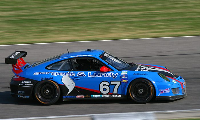 Spencer Pumpelly and Steve Bertheau will be back in the No. 67 TRG Porsche for 2012. (James Fish/The Epoch Times)