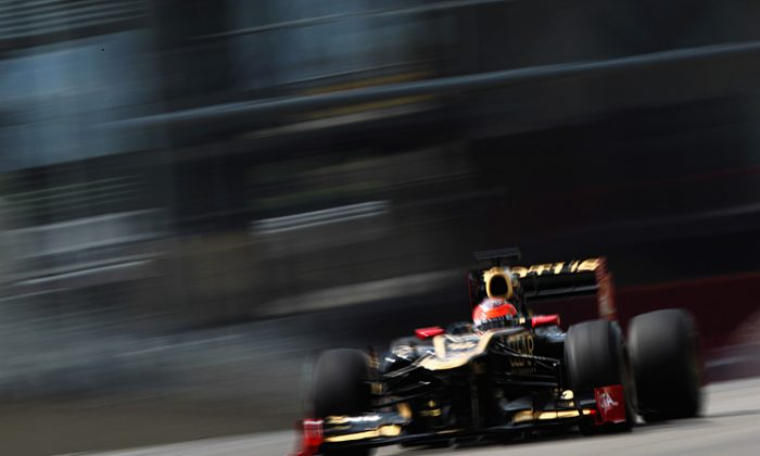 Romain Grosjean of Lotus was quickest in Day Three of Formula One testing at the Mugello Circuit. (Andrew Hone/Getty Images)