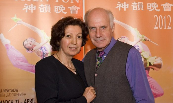 Elza Daniel and her husband attend Shen Yun Performing Arts in Washington's Kennedy Center. (Lisa Fan/The Epoch Times)